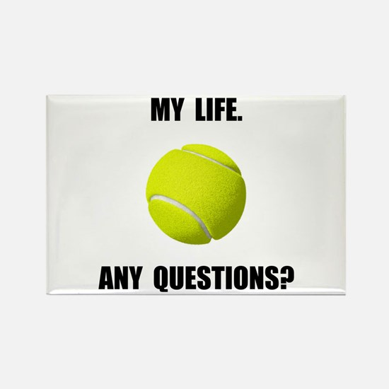 My Life Tennis Rectangle Magnet (10 pack)