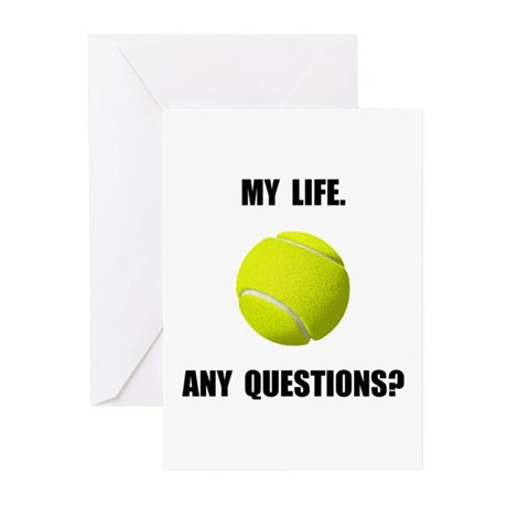 My Life Tennis Greeting Cards (Pk of 10)