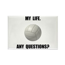 My Life Volleyball Rectangle Magnet (10 pack)