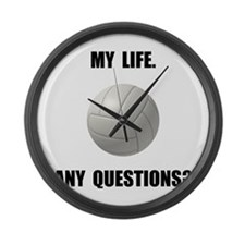 My Life Volleyball Large Wall Clock