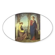 The Annunciation Oval Decal