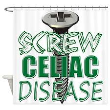 Screw Celiac Disease copy Shower Curtain