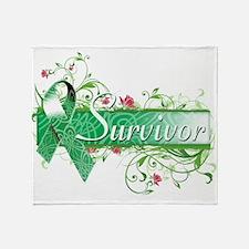 Survivor Floral copy Throw Blanket
