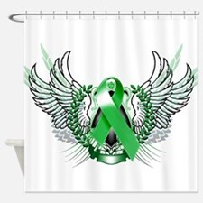 Awareness Tribal Green copy Shower Curtain
