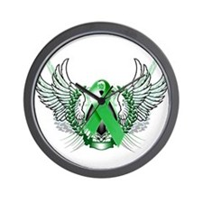 Awareness Tribal Green copy Wall Clock