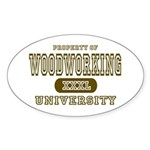 Woodworking University Oval Sticker