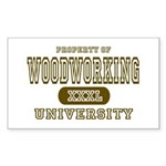 Woodworking University Rectangle Sticker