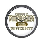Woodworking University Wall Clock