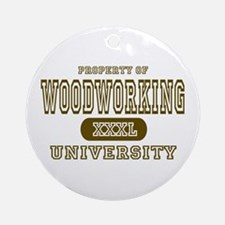 Woodworking University Ornament (Round)