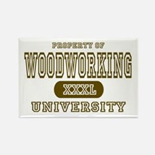 Woodworking University Rectangle Magnet