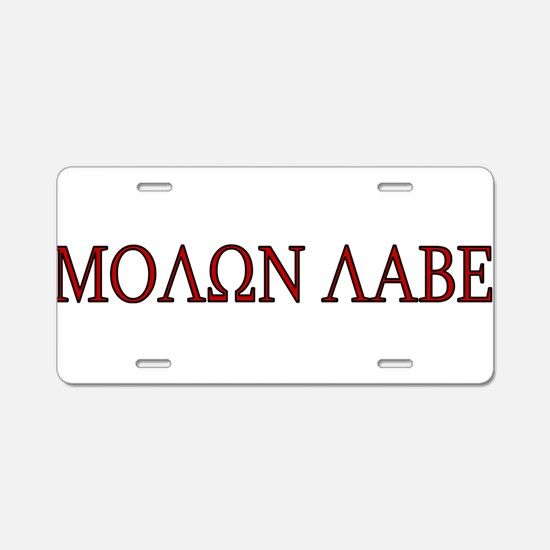 Unique Molon labe Aluminum License Plate