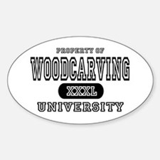 Woodcarving University Oval Decal
