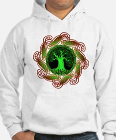 Celtic Tree Illuminated (green) Hoodie