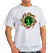 Celtic Tree Illuminated (green) T-Shirt