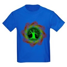Celtic Tree (2Gr) Kid's T-Shirt (5 dark colors)
