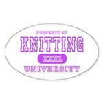Knitting University Oval Sticker