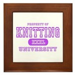 Knitting University Framed Tile