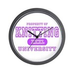 Knitting University Wall Clock