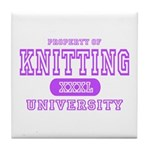 Knitting University Tile Coaster
