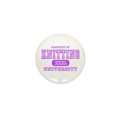 Knitting University Mini Button (10 pack)