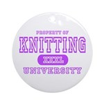 Knitting University Ornament (Round)