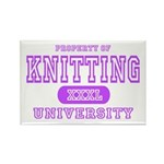 Knitting University Rectangle Magnet