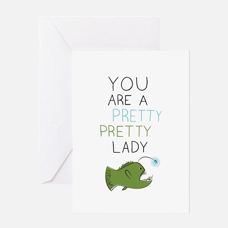 Pretty Pretty Lady Greeting Card