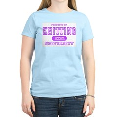 Knitting University Women's Pink T-Shirt
