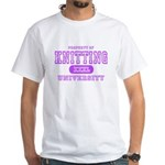 Knitting University White T-Shirt