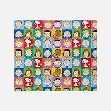 Peanuts Back to School Pattern Throw Blanket