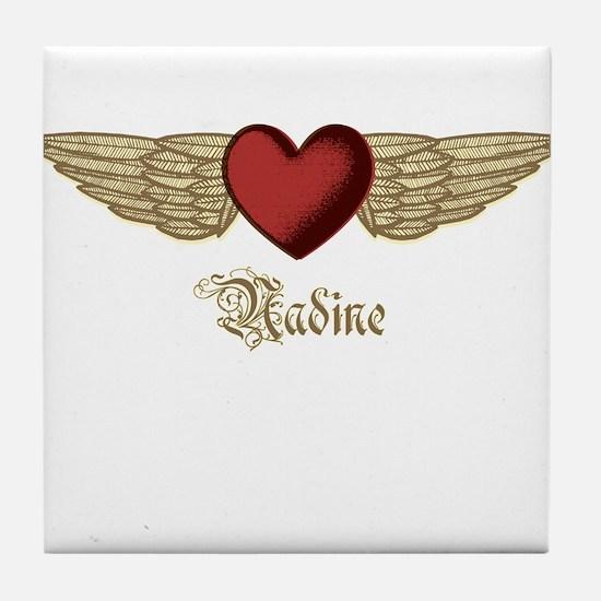 Nadine the Angel Tile Coaster