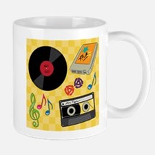 Retro Music Collection Small Small Mug