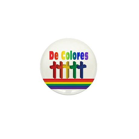 Marching Crosses De Colores Mini Button