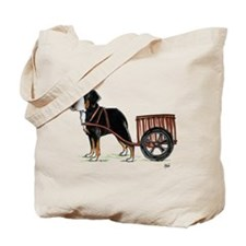 Funny Greater swiss mountain dog Tote Bag