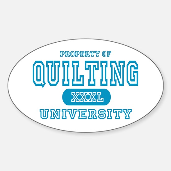 Quilting University Oval Decal