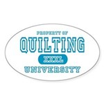 Quilting University Oval Sticker