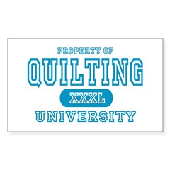 Quilting University Rectangle Decal