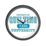 Quilting University Wall Clock