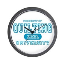 Quilting University Wall Clock