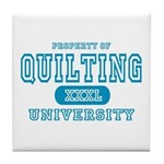 Quilting University Tile Coaster