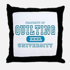Quilting University Throw Pillow