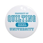 Quilting University Ornament (Round)