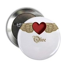 "Olive the Angel 2.25"" Button"
