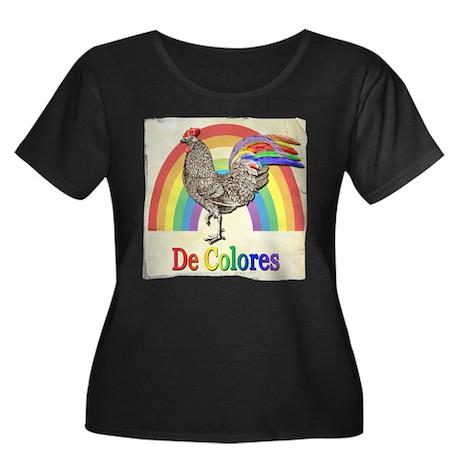 Vintage Rooster De Colores Plus Size T-Shirt
