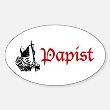 """Papist"" Oval Decal"