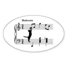 Cat Jumping to Note Decal
