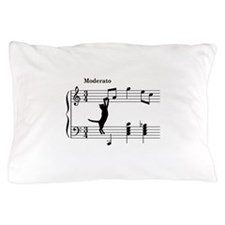 Cat Jumping to Note Pillow Case