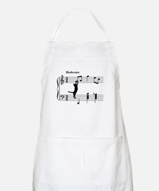 Cat Jumping to Note Apron