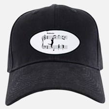Cat Jumping to Note Baseball Hat