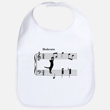 Cat Jumping to Note Bib